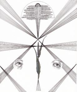 Black_Haus_Art-Lazy_Eye_Look_Away_Its_All_Lost-Pen_Ink_Gouche-8x10