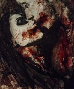 Agustin_Segundo_Lobos-The_Wait-Acrylic_&_Human_Blood-8x10