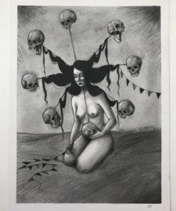 Alayna_Maryrose-Memento_Mori-Graphite-9x12
