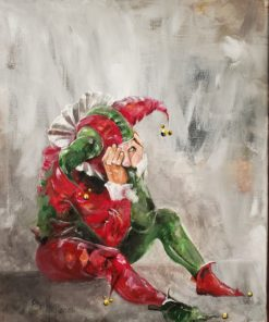 Bill_Bishop-Distressed_Jester-Acrylic_on_Canvas-20x24