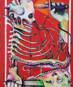 Gerard_Torbitt-KINGS_King_Tit_VS_King_Tat-Acrylic_on_Canvas_Board-16x24