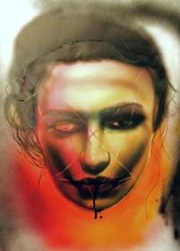 Ansu_Airas-Celebration-Acrylic_Ink_Color_Pencil_on_Paper-20x16.5