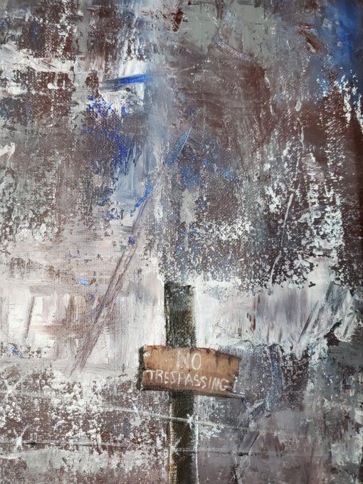 Bill_Bishop-No_Trespassing(3)-Acrylic_on_Canvas-16x20-350