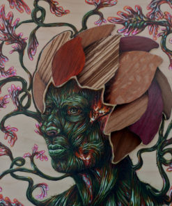 Jackie_Cassidy-New_Growth-Acrylic_and_Wood_Veneer_Marquetry_on_Wood_Panel-8x8-10x10-350